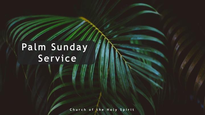 Palm Sunday COVID19 Lockdown service