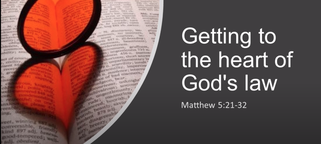 Getting to the heart of God's law